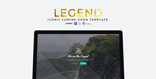 LEGEND - Iconic Coming Soon Template - Under Construction Specialty Pages