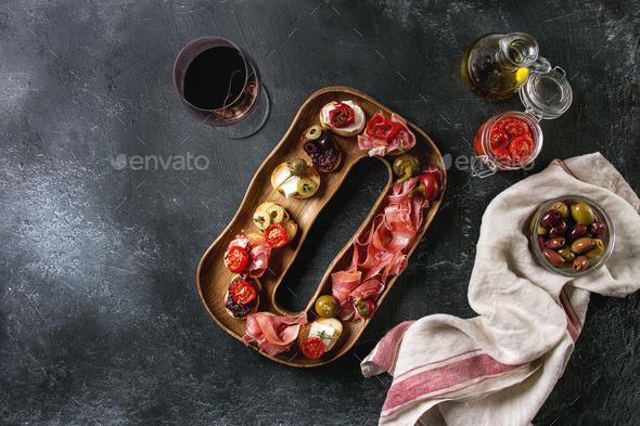 Tapas or bruschetta - Stock Photo - Images