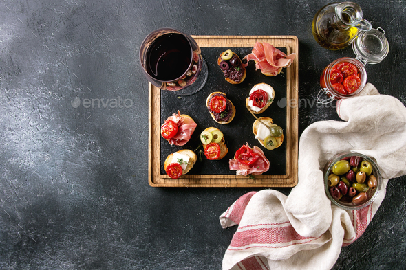 Tapas or bruschetta - Stock Photo - Images