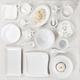 Set of white plates - PhotoDune Item for Sale