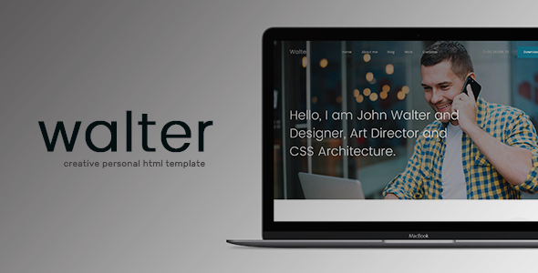 ThemeForest Walter Creative Personal HTML Template 21078885