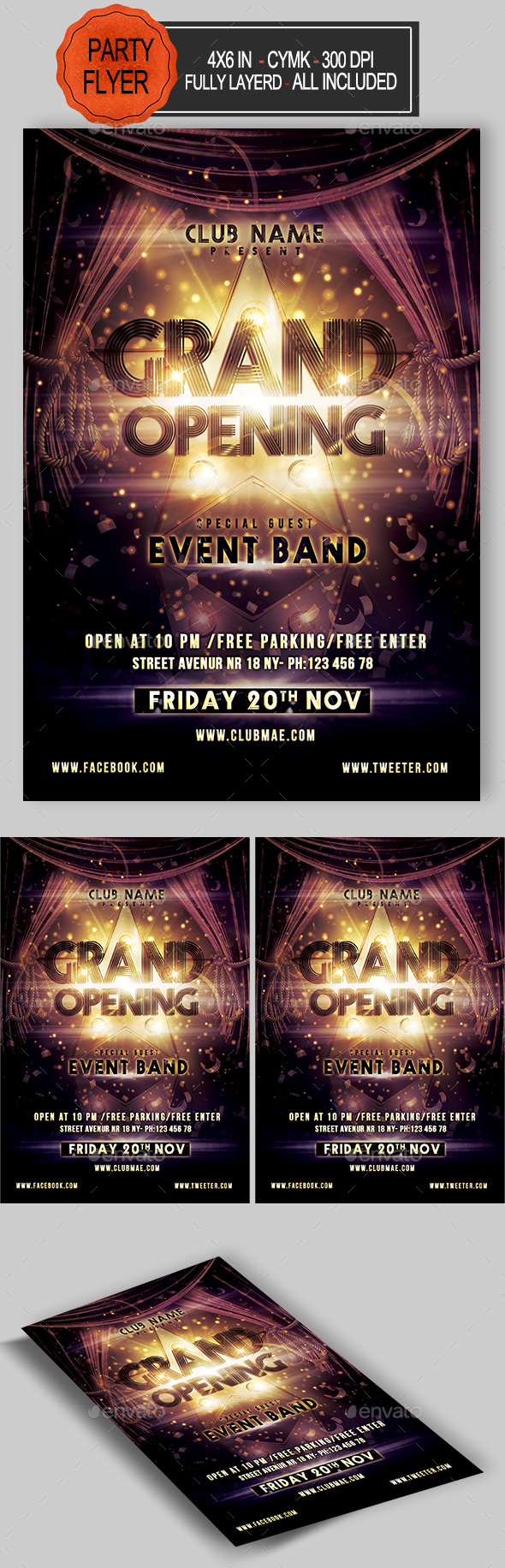 GraphicRiver Grand Opening Flyer 21078936