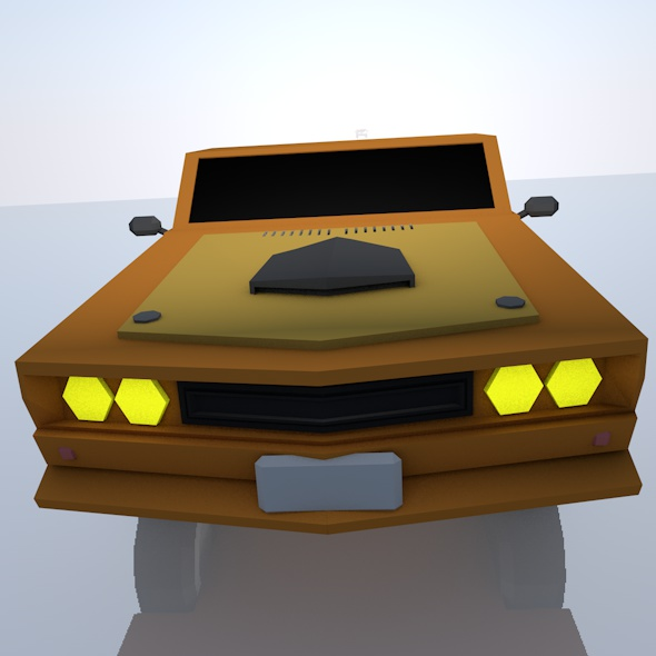 Car (Low Poly) - 3DOcean Item for Sale
