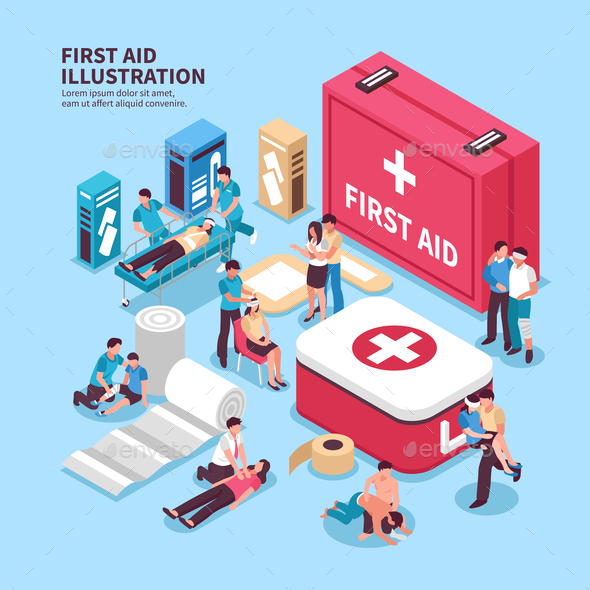First Aid Box Background - Health/Medicine Conceptual