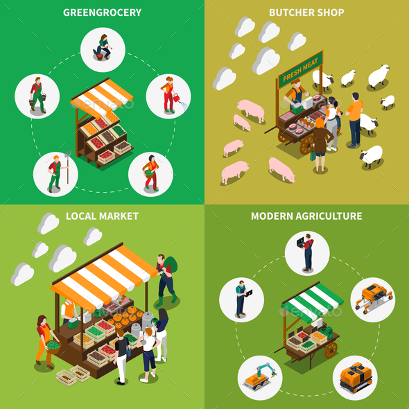 Local Greengrocery Design Concept - Business Conceptual