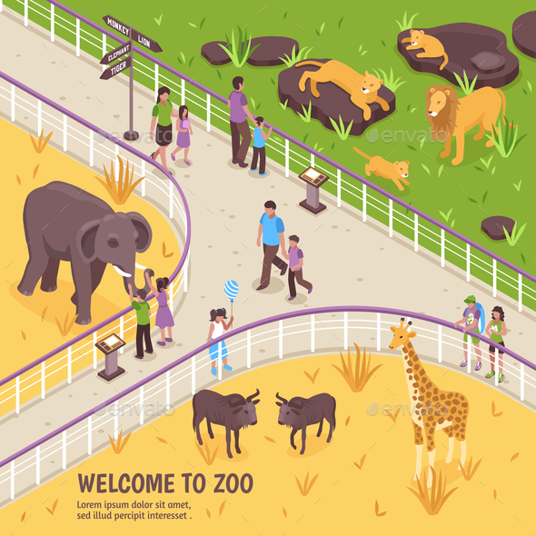 Welcome To Zoo Composition - People Characters