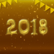 Happy New Year Balloons 2018 Golden - VideoHive Item for Sale
