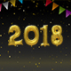 Happy New Year Balloons 2018 Night - VideoHive Item for Sale