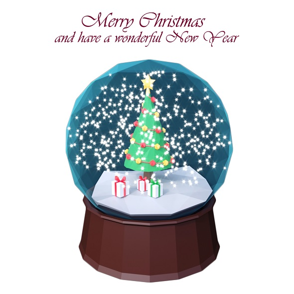 3DOcean Low Poly Christmas Globe 21079688
