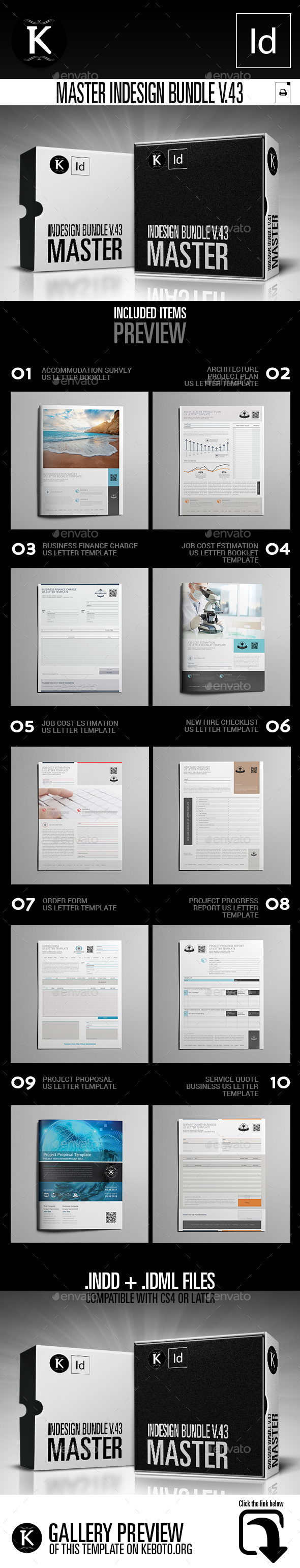 Master inDesign Bundle v.43 - Miscellaneous Print Templates