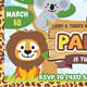 Kids Safari Invitation - Jungle Birthday Ticket - Kids Invitation - GraphicRiver Item for Sale