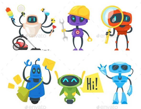 GraphicRiver Set of Different Robots 21080287
