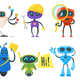 Set of Different Robots - GraphicRiver Item for Sale
