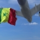 Airplane Flying Over Waving Flag of Senegal - VideoHive Item for Sale