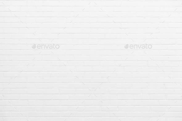 White brick wall - Stock Photo - Images