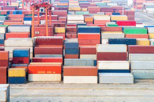 container depot background - Stock Photo - Images