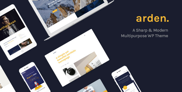 Arden - A Sharp & Modern Multipurpose WordPress Theme - Creative WordPress