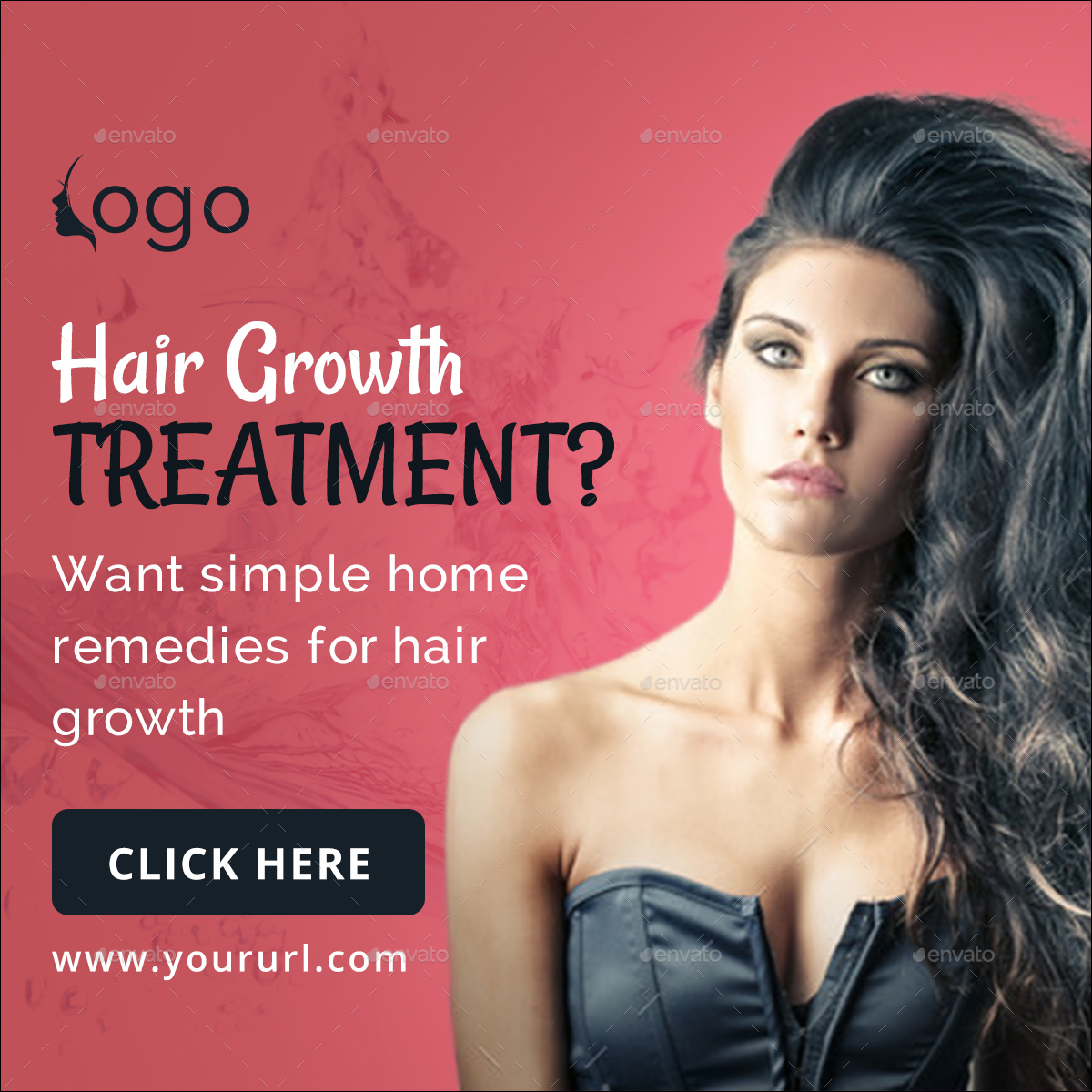 Hair Growth Treatment Banner Set By Hyov Graphicriver