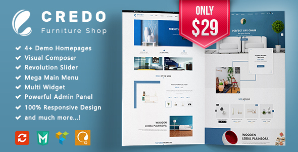 ThemeForest Credo Furniture Responsive WooCommerce WordPress Theme 20756323