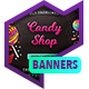 Web Banner Set - Candy Shop - GraphicRiver Item for Sale