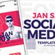 January Sale Social Media Templates