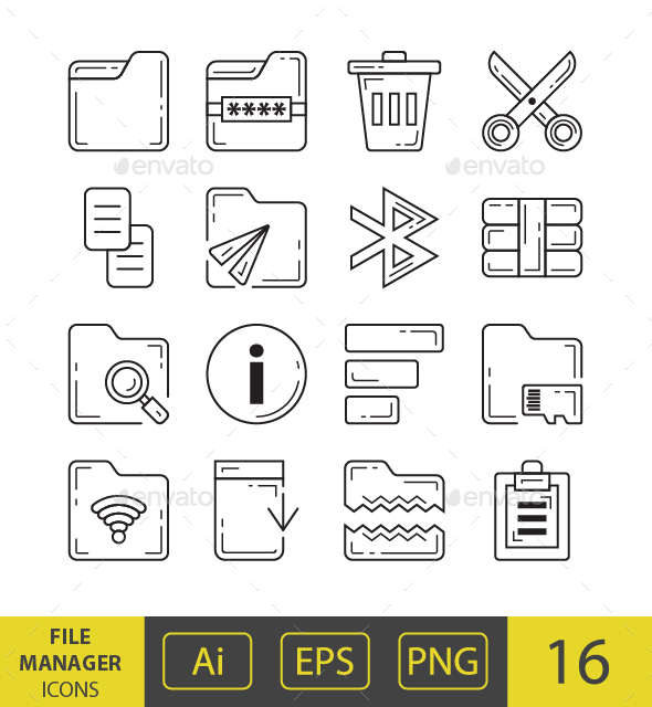 GraphicRiver File Manager Icons 21080680