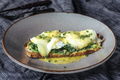 Eggs benedicts on toast, close up view. - PhotoDune Item for Sale