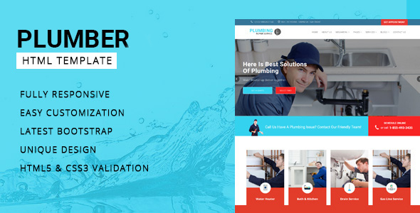 Plumber - Company HTML Template