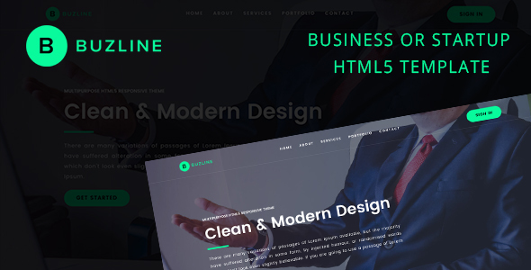 BUZLINE HTML5 Responsive Startup Template Free Download | Nulled