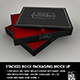 Stacked 3pc Box Mock Up - GraphicRiver Item for Sale