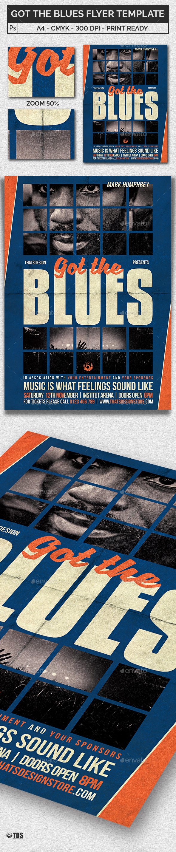 Got the Blues Flyer Template - Concerts Events