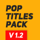 Pop Titles - VideoHive Item for Sale