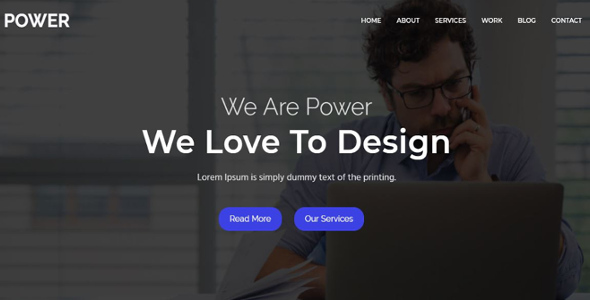 Download power - One Parallax Business Template            nulled nulled version