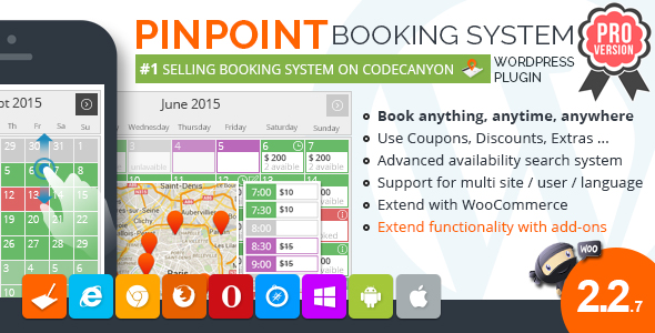 Pinpoint Booking System PRO - Book everything with WordPress - CodeCanyon Item for Sale