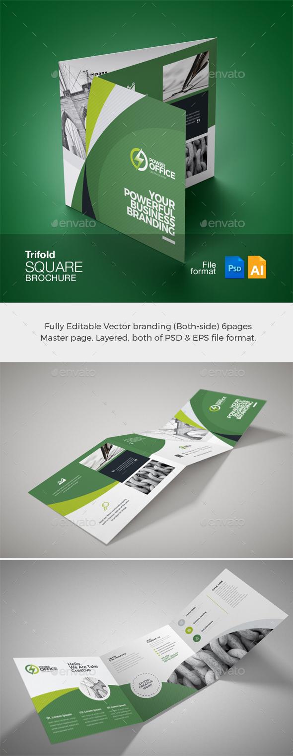 GraphicRiver Corporate Business Square TriFold Brochure 21081358