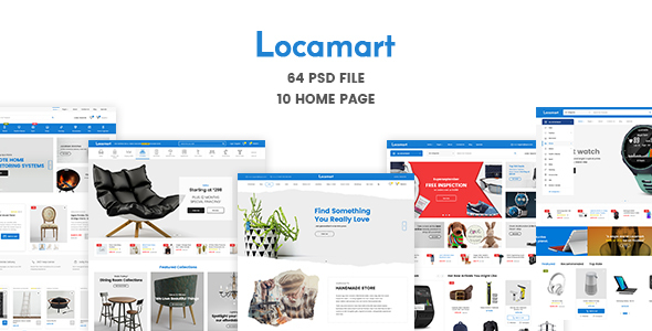 ThemeForest Locamart Multipurpose Electronics eCommerce PSD 21081420