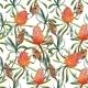 Watercolor Tropical Australian Pattern