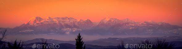 Panorama Kamnisko–Savinjske Alps - Stock Photo - Images