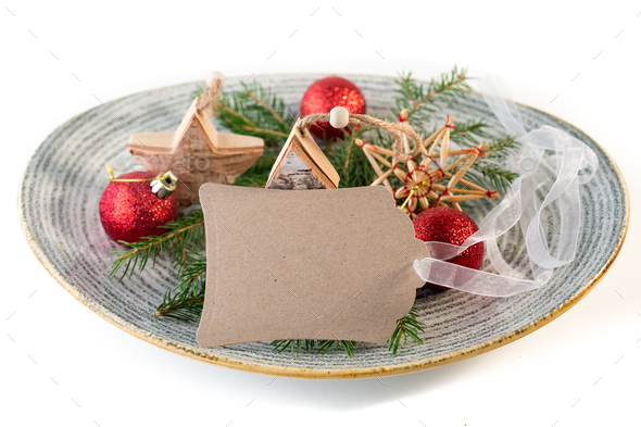 Christmas scene with ornaments - Stock Photo - Images