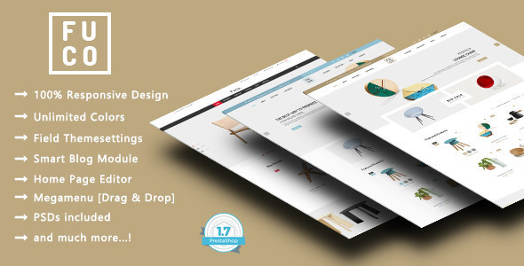 Fuco - Handmade Furniture Responsive Prestashop 1.7 Theme - Shopping PrestaShop