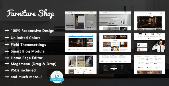Furniture Shop – Interior Design Responsive Prestashop 1.7 Theme