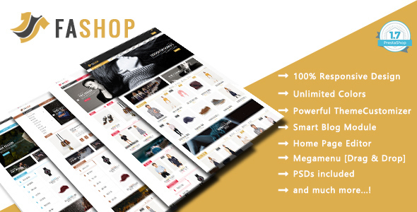 Image of FAshop - Shopping, Clothes Responsive Prestashop 1.7 Theme