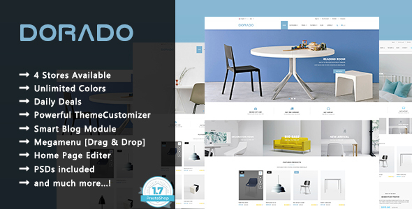 Dorado - Minimalist Furniture and Decor Responsive Prestashop 1.7 Theme - Shopping PrestaShop