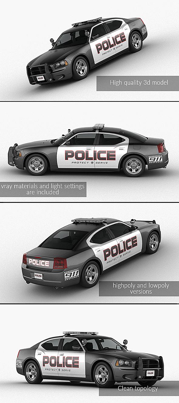 3DOcean Dodge §іharger Police 21081897