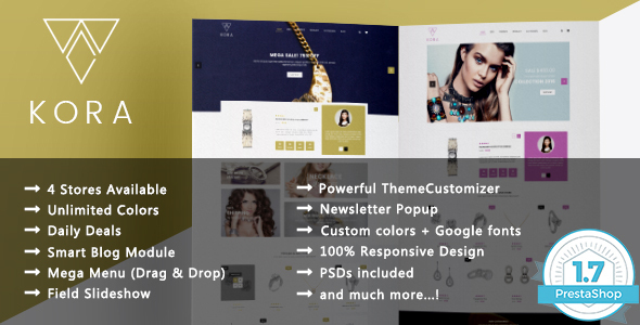 Image of Kora - Jewelry Responsive Prestashop 1.7 & 1.6 Theme