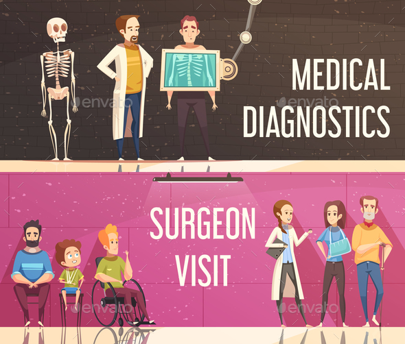 Orthopedist Banners Set - Health/Medicine Conceptual