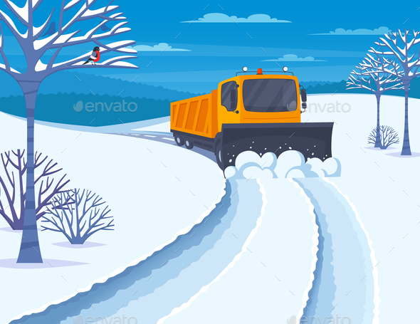 GraphicRiver Snow Transport Illustration 21082037