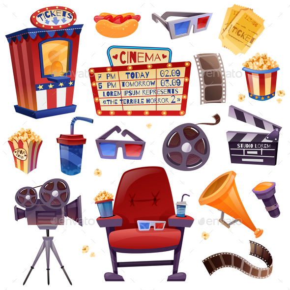 GraphicRiver Cinema Cartoon Set 21082046