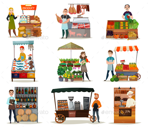 GraphicRiver Street Food Icons Set 21082074