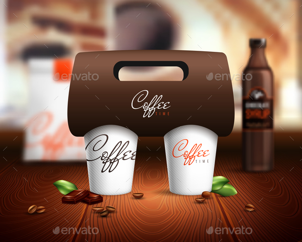 Coffee Cups Mockup Illustration - Food Objects